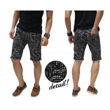 Celana Pendek Batik Pixel Pattern