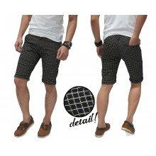 Celana Pendek Net Square Pattern