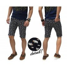 Celana Pendek Sheep Family Pattern Black