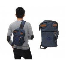 Shoulder Bag Double Pocket Navy