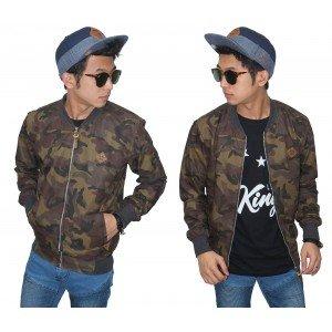Jacket Varsity Camouflage Army Brown