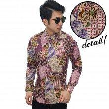 Kemeja Batik Elegant Mixed Motif Purple