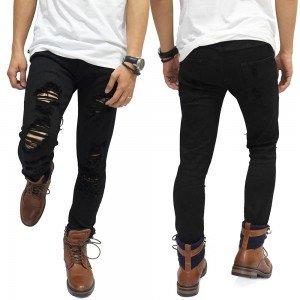 Jeans Ripped Mega Destroyed Black