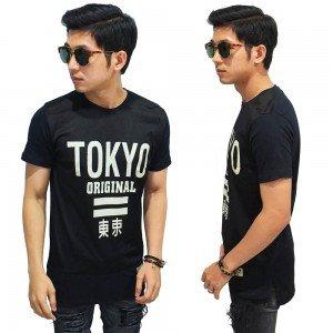 Longline Mesh T-Shirt Tokyo Original Black