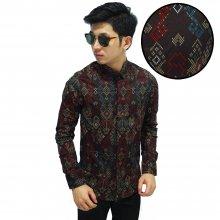 Kemeja Batik Songket Sumatera New Brown