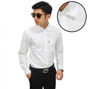 Kemeja Panjang Formal Polos Putih