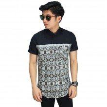 Kemeja Pendek Mix Motif Vector Batik Black