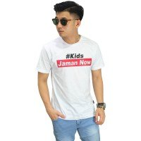 Kaos Kids Jaman Now White