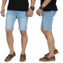 Celana Pendek Jeans Double Stripe Soft Blue