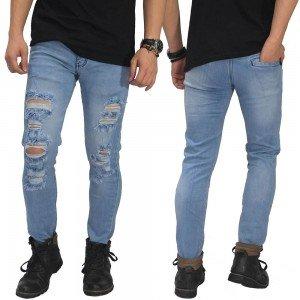 Jeans Ripped Mega Destroyed Soft Blue