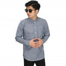 Kemeja Koko Modern Basic Dark Grey