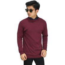 Knit Sweater Basic Maroon