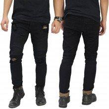 Jeans Skinny Biker Ripped Black