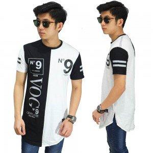 Longline T-Shirt VOG 9 White