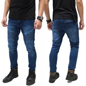 Biker Jeans Maskulin Dark Blue
