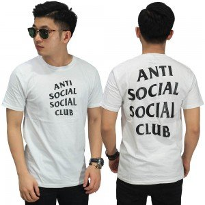 Kaos Anti Social Big Logo Broken White