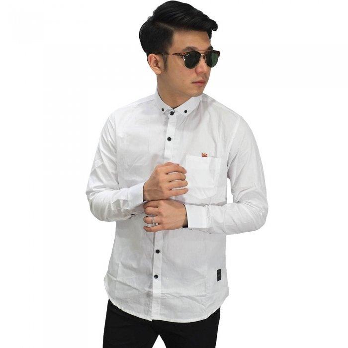Kemeja Panjang Putih Polos