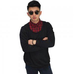 Sweater With Fake Shirt Black