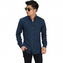 Kemeja Flanel Gingham Plaid Dark Tosca