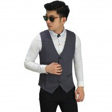 Vest Formal Basic Dark Grey