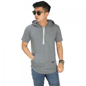 Hoodie T-Shirt Basic Dark Grey