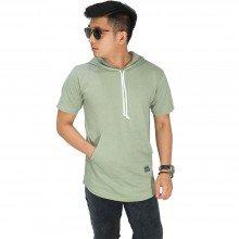 Hoodie T-Shirt Basic Soft Green