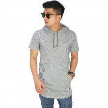 Hoodie T-Shirt Basic Soft Grey