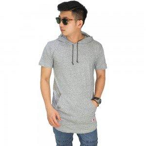 Hoodie T-Shirt Basic Soft Grey