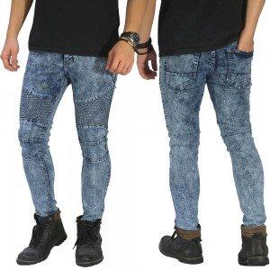 Biker Jeans Maskulin Snow Wash Blue