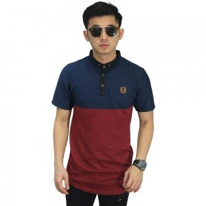 Polo Two Tone Navy And Maroon