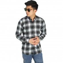 Kemeja Flanel Gradation Square Black