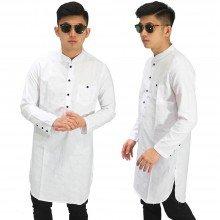 Baju Muslim Kurta Gamis Basic White