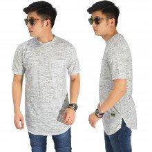 Longline T-Shirt Basic Tuton Soft Grey