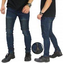 Biker Jeans Ankle Zipper Dark Indigo
