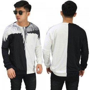 Sweatshirt Printing Wings Black And White