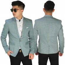 Blazer Casual Square Soft Green