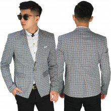 Blazer Casual Square Soft Grey