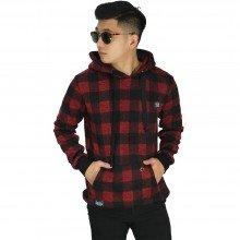 Sweatshirt Hoodie Tartan Square Red