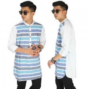 Baju Muslim Kurta Gamis 3/4 Stripe