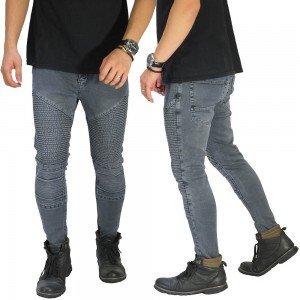 Biker Jeans Skinny Full Thigh Grey