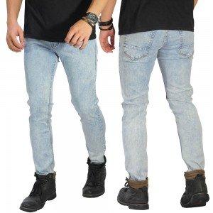 Celana Jeans Polos Soft Blue Washed