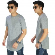 Longline T-Shirt Basic Grey