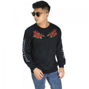 Sweatshirt Embroidery Millennial Rose Black