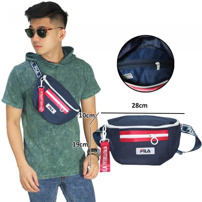 Waist Bag Fila Heritage Mini Navy - Tas Pria fa6beb6b74a2d