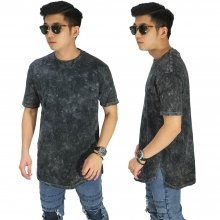 Longline T-Shirt Washed Black