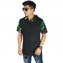 Sweatshirt Hoodie Camouflage Black