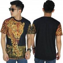 Kaos Printing Elegant Gold Leopard
