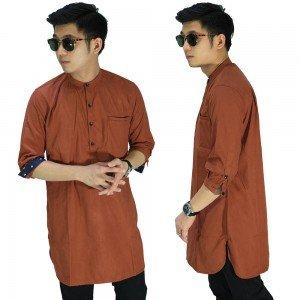 Baju Muslim Kurta Gamis 3/4 Polos Bata