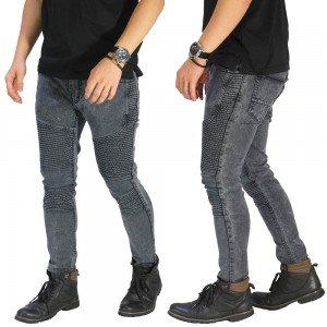 Jeans Biker Extend Washed Grey