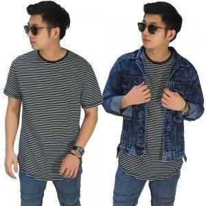 Kaos Thin Stripe Black